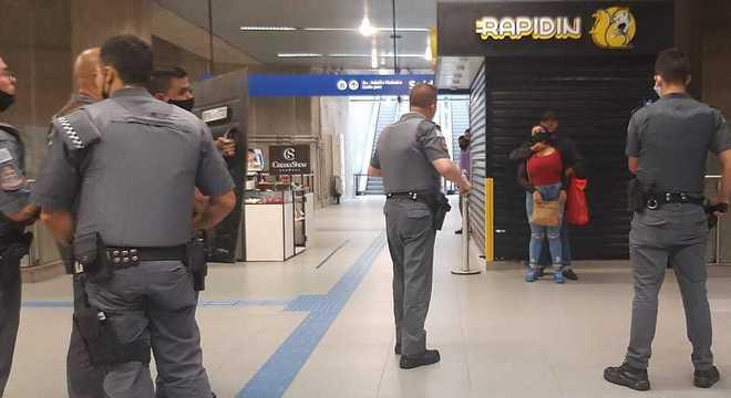 Refém no metrô de São Paulo