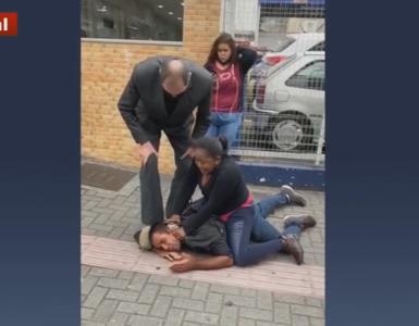 Haitiana imobiliza homem após tentativa de assalto