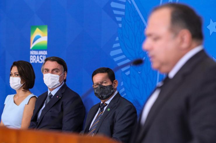 Ministro Eduardo Pazuello e presidente Jair Bolsonaro