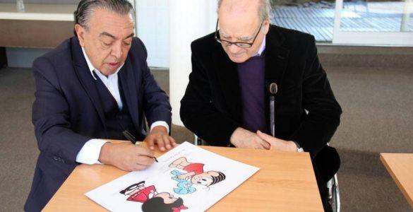 Mauricio de Sousa e Quino