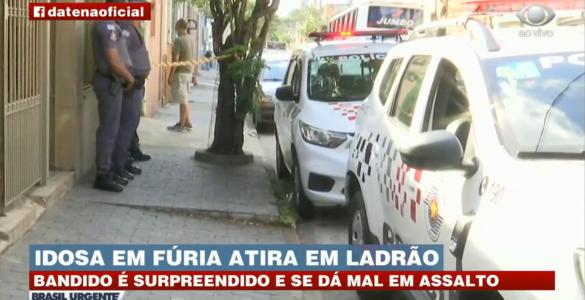 Idosa atira em assaltante que invadiu sua casa em São Paulo