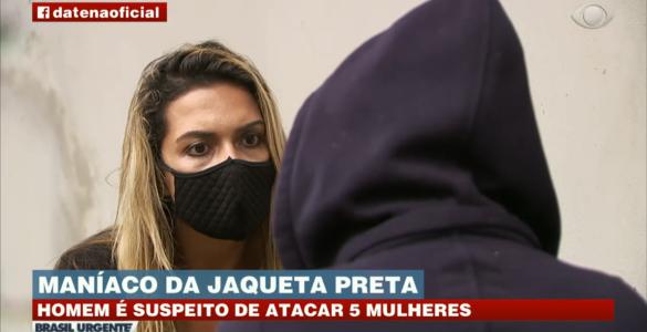 """Polícia procura """"maníaco da jaqueta preta"""" em Rio Grande da Serra"""