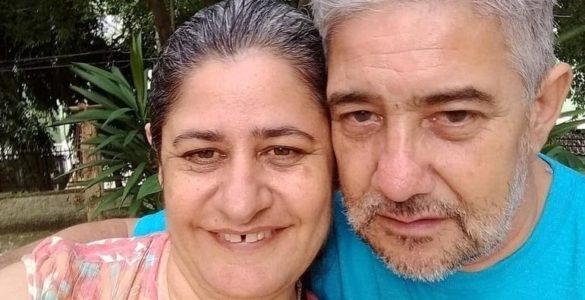 Rosana Correia e o marido, mortos no temporal