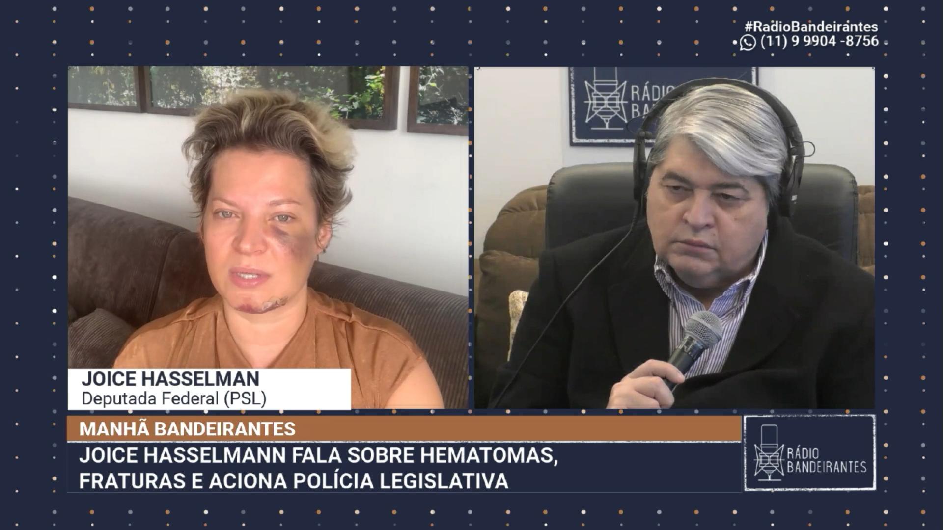 """""""Pessoas ligadas ao presidente comemoram"""", diz Joice sobre possível atentado"""
