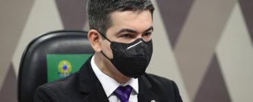 Senador Randolfe Rodrigues na CPI da Covid