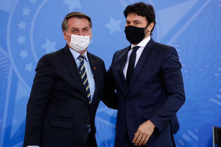 Jair Bolsonaro e Fabio Faria